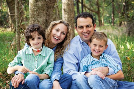 myFace patient Nathaniel Newman and his family