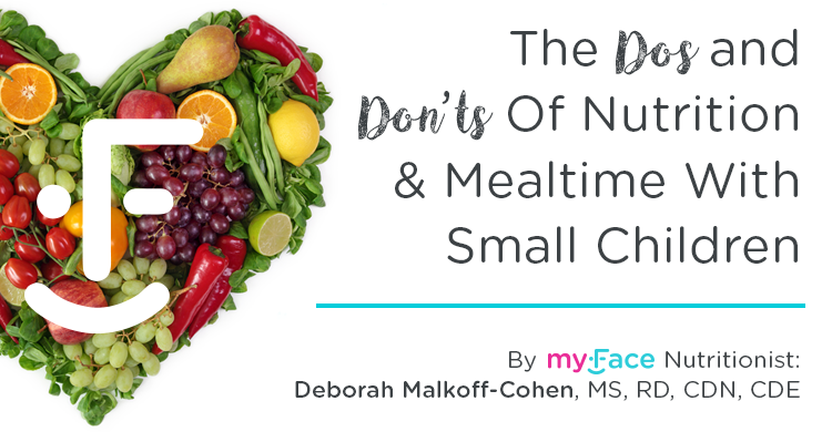 myFace The Dos and Don't of Nutrition and Mealtime with Small Children blog feature image