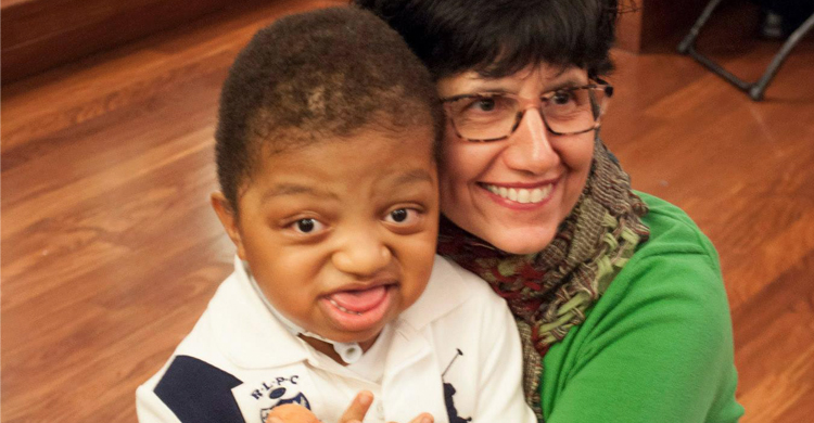 myFace Pediatric Nurse Practitioner, Patricia Chibbaro with myFace patient